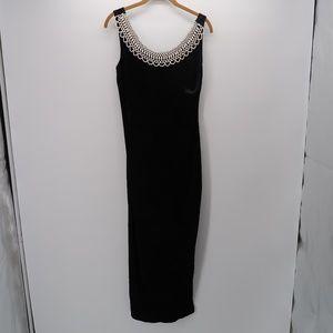 All That Jazz Black Sleeveless Beaded Maxi Dress